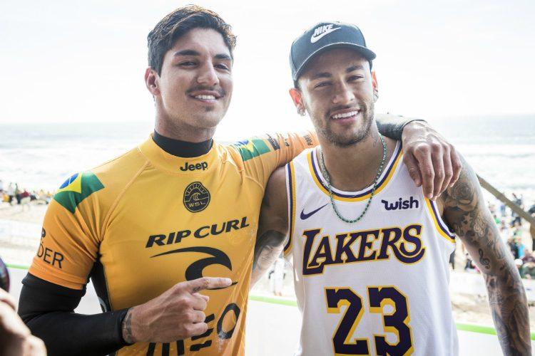 Gabriel Medina e seu amigo Neymar Junior
