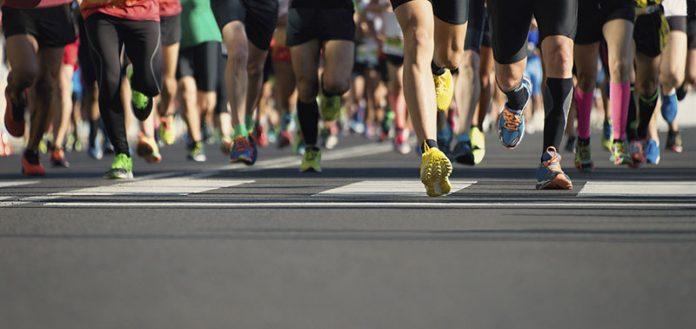 correndo três vezes por semana