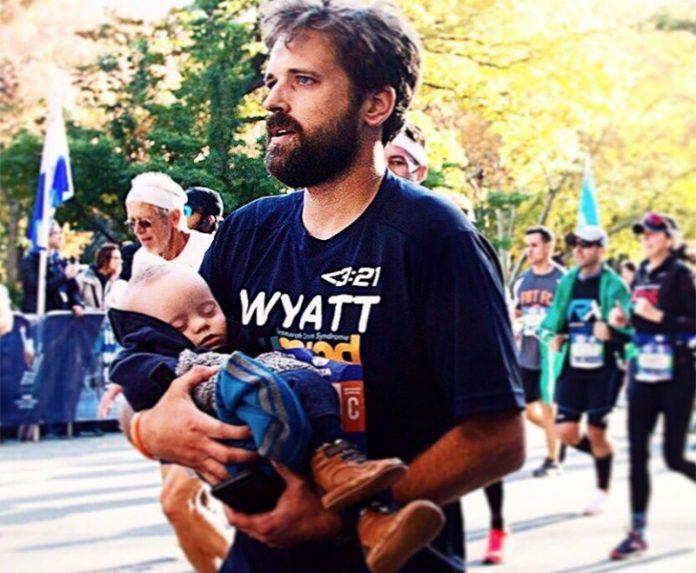 Maratona de Nova York com bebê no colo_destaque