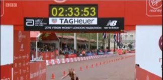 corredora passa mal na maratona de londres 2019