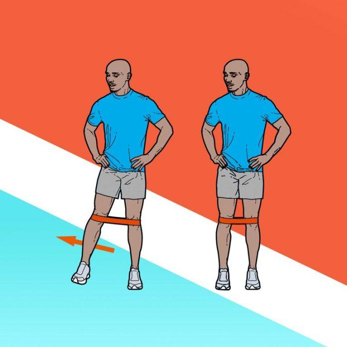 Treino de força do Mo Farah: Clamshell com faixa elástica