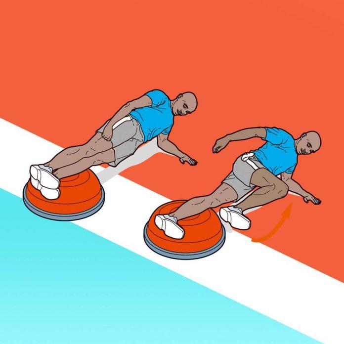 Treino de força do Mo Farah: Prancha lateral com meia bola Bosu