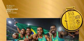 Revezamento 4x100 garante mais dois ouros para o atletismo brasileiro