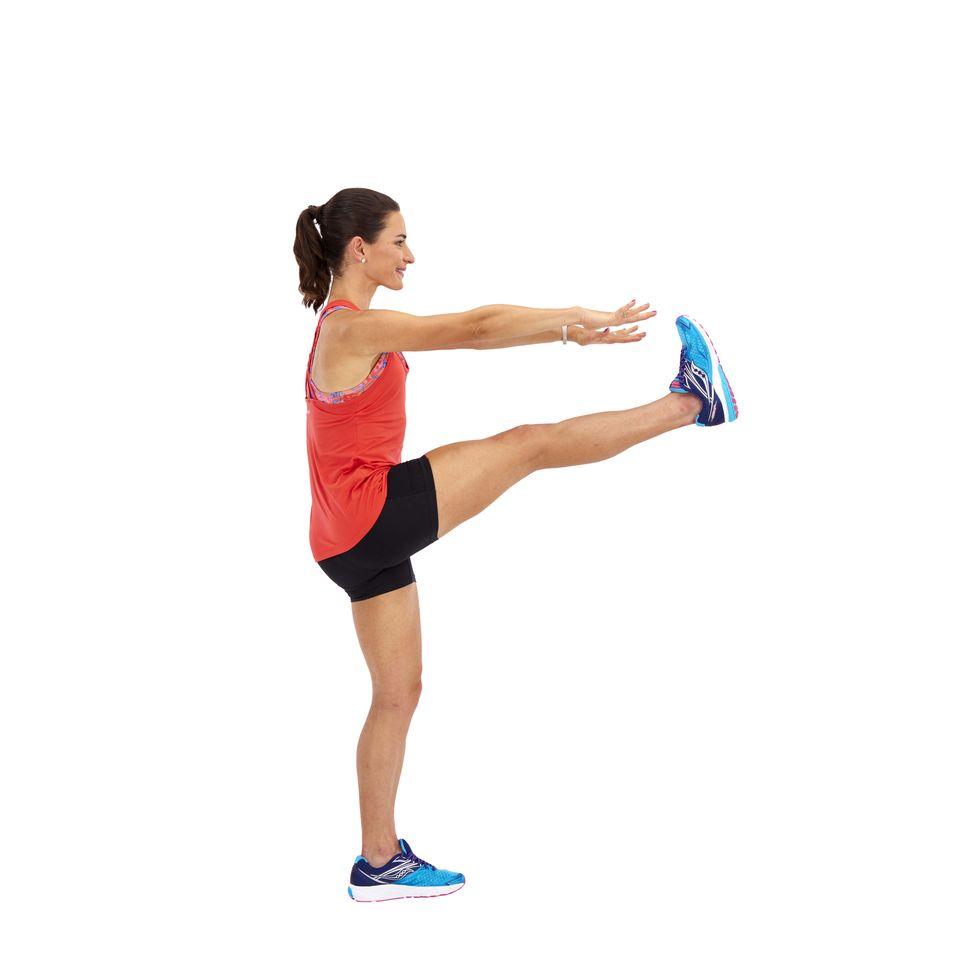 balanços com pernas alternadas