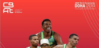 Revezamento 4x100 masculino quebra recorde sul-americano e vai para a final do Mundial de Atletismo