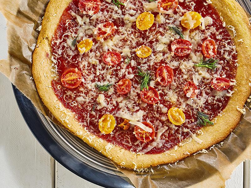 Receitas saudáveis: pizza vegana de massa de quinoa