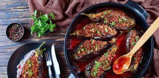 berinjela recheada com carne moída